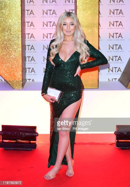 Anastasia Kingsnorth during the National Television Awards at London's O2 Arena