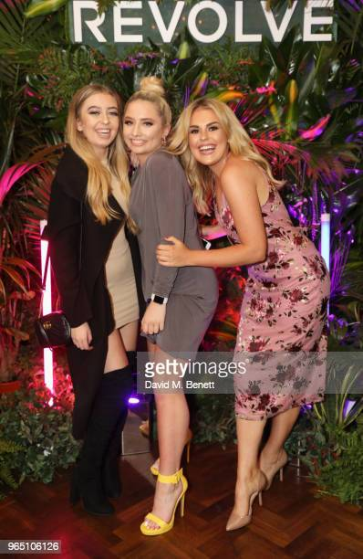 Anastasia Kingsnorth Saffron Barker and Tallia Storm attend the REVOLVE 'LA Party In London' hosted by Winnie Harlow at Hotel Cafe Royal on May 31...