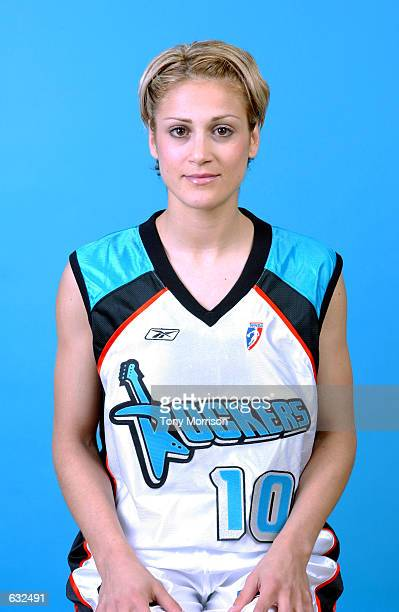 Anastasia Kostaki of the Cleveland Rockers poses for a portrait at the WNBA Media Day in Cleveland Ohio DIGITAL IMAGE NOTE TO USER User expressly...