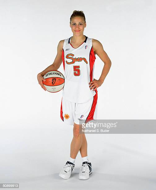 Anastasia Kostaki of the Connecticut Sun poses for a Media Day Portrait on May 14 2004 in Uncansville Connecticut NOTE TO USER User expressly...