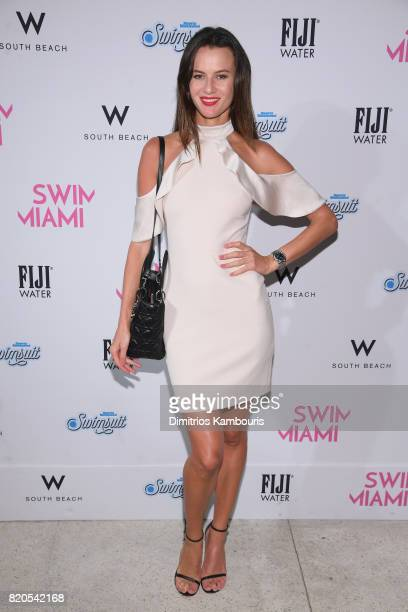 Anastasia Machekhina attends the SWIMMIAMI KAOHS 2018 Collection fashion show at WET Deck at W South Beach on July 21 2017 in Miami Beach Florida