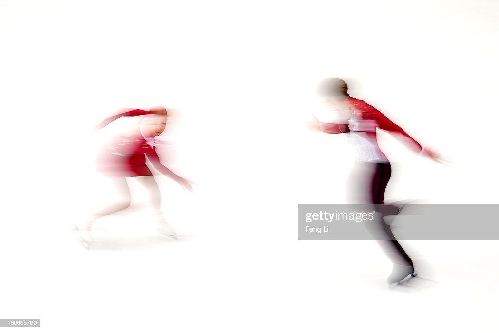 Anastasia Martiusheva and Alexei Rogonov of Russia skate in the Pairs Free Skating during Lexus Cup of China ISU Grand Prix of Figure Skating 2013 at Beijing Capital Gymnasium on November 2, 2013 in Beijing, China.