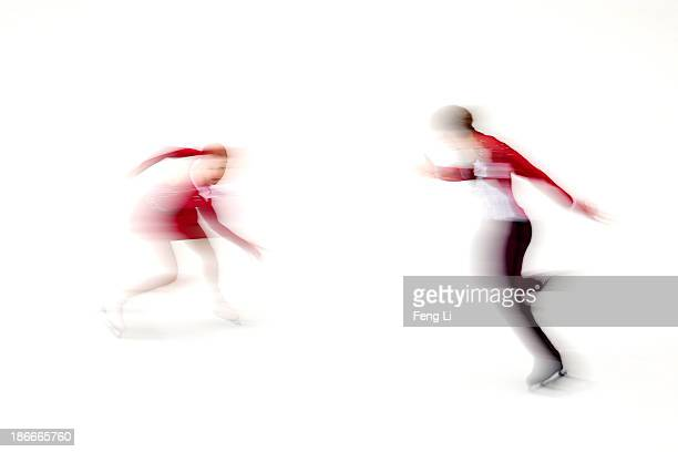 Anastasia Martiusheva and Alexei Rogonov of Russia skate in the Pairs Free Skating during Lexus Cup of China ISU Grand Prix of Figure Skating 2013 at...
