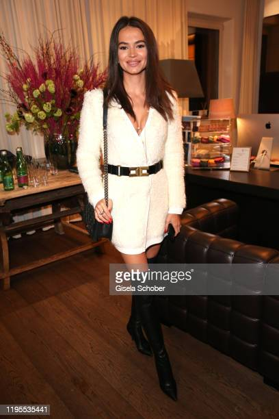 Anastasia Matthaeus during the Schwarzenegger climate initiative charity dinner prior the Hahnenkamm Ski Races at Country Club on January 23 2020 in...