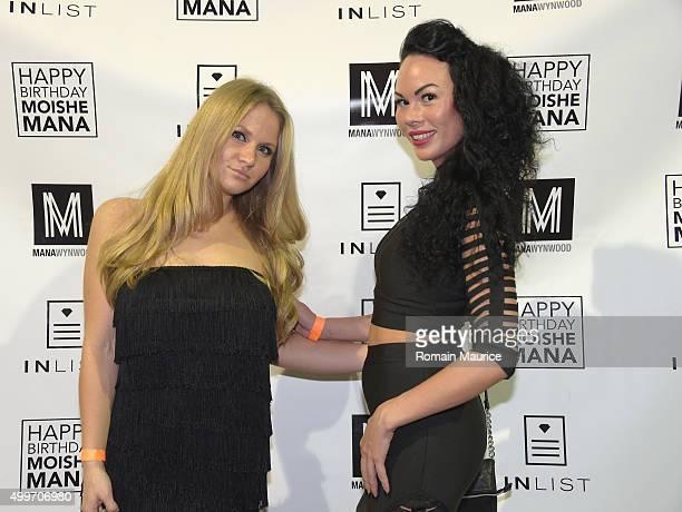 Anastasia Matveeva and Anna Matveeva attend InList 1 Year Anniversary and Moishe Mana Birthday at Mana Wynwood on December 2 2015 in Miami Florida