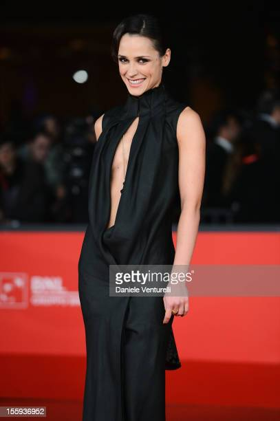 Anastasia Mikulchina attends the Festival Opening and Waiting For The Sea Premiere during the 7th Rome Film Festival at the Auditorium Parco Della...