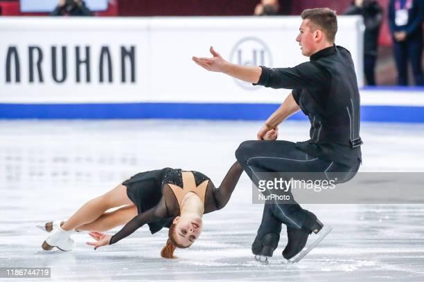 Anastasia MISHINA / Aleksandr GALLIAMOV in action during the SENIOR PAIRS Short Program of the ISU Figure Skating Grand Prix final at Palavela on...
