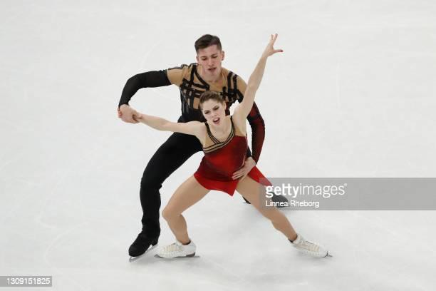 Anastasia Mishina and Aleksandr Galliamov of Figure Skating Federation of Russia perform in Pairs Free Skating during ISU World Figure Skating...