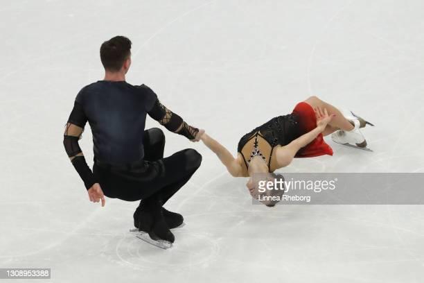 Anastasia Mishina and Aleksandr Galliamov of Figure Skating Federation Of Russia performs during Day One of the ISU World Figure Skating...