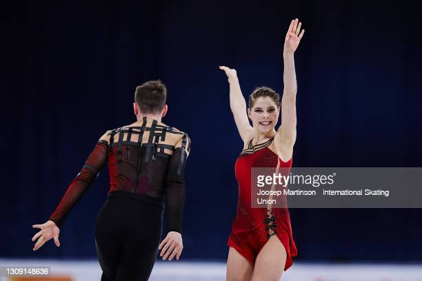 Anastasia Mishina and Aleksandr Galliamov of FSR compete in the Pairs Free Skating during day two of the the ISU World Figure Skating Championships...