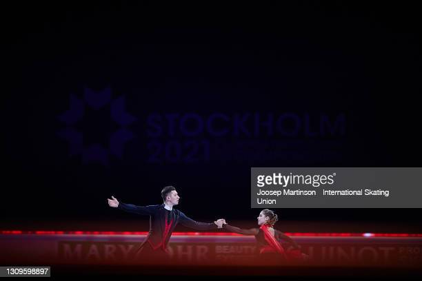 Anastasia Mishina and Aleksandr Galliamov of FSR performs in the Gala Exhibition during day five of the ISU World Figure Skating Championships at...