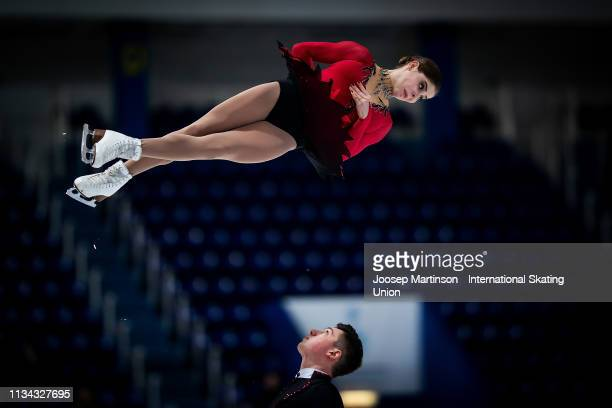 Anastasia Mishina and Aleksandr Galliamov of Russia compete in the Junior Pairs Free Skating during day 2 of the ISU World Junior Figure Skating...