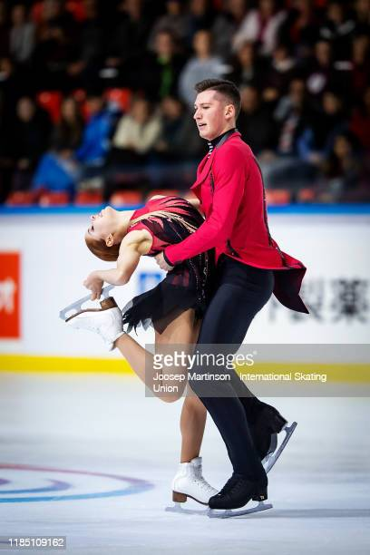 Anastasia Mishina and Aleksandr Galliamov of Russia compete in the Pairs Free Skating during day 2 of the ISU Grand Prix of Figure Skating...