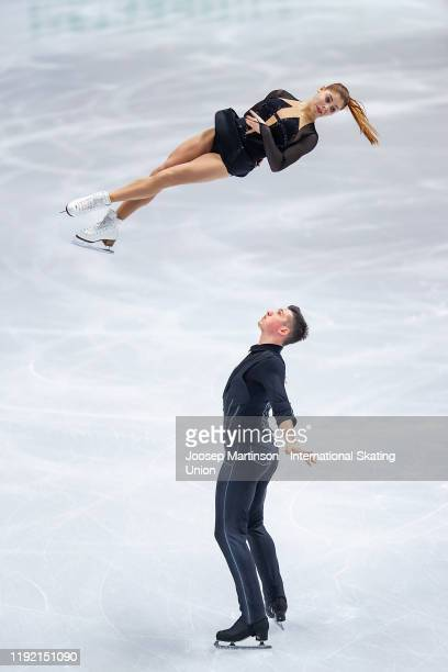Anastasia Mishina and Aleksandr Galliamov of Russia compete in the Pairs Short Program during the ISU Grand Prix of Figure Skating Final at Palavela...