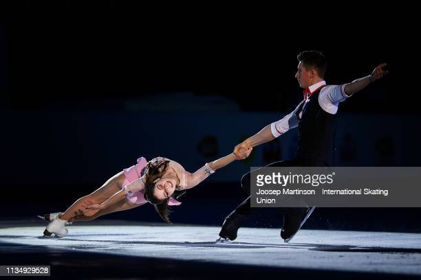 Anastasia Mishina and Aleksandr Galliamov of Russia perform in the Gala Exhibition during day 5 of the ISU World Junior Figure Skating Championships...