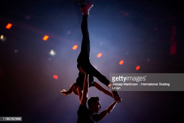 Anastasia Mishina and Aleksandr Galliamov of Russia perform in the gala exhibition during day 3 of the ISU Grand Prix of Figure Skating...