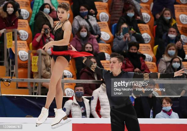 Anastasia Mishina and Aleksandr Galliamov of Russia perform in the Pairs Short Program during day one of the ISU Grand Prix of Figure Skating...