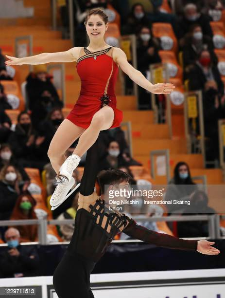 Anastasia Mishina and Aleksandr Galliamov of Russia perform in the Pairs Free Skating Program during day two of the ISU Grand Prix of Figure Skating...