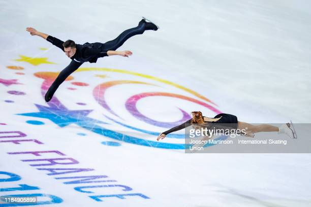 Anastasia Mishina and Aleksandr Galliamov of Russiacompete in the Pairs Short Program during day 1 of the ISU Grand Prix of Figure Skating...
