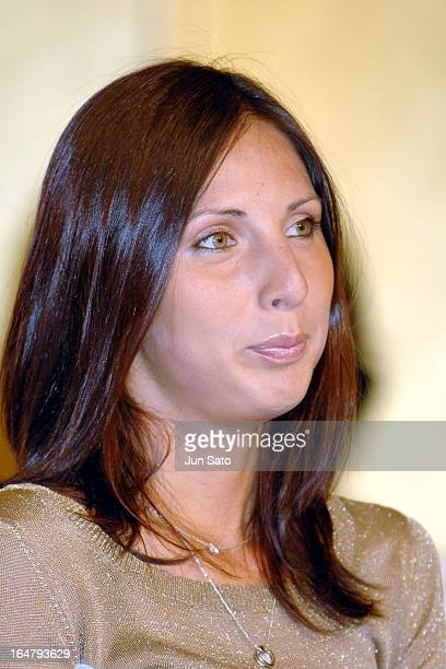 Anastasia Myskina during the press conference of Toray Pan Pacific Open Tennis Tournament 2006