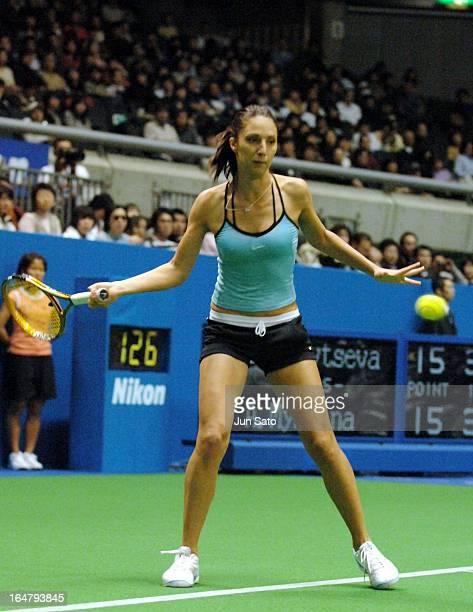 Anastasia Myskina during WTA 2006 Toray Pan Pacific Open Singles Main Quarterfinal against Elena Likhovtseva at Tokyo Metropolitan Gymnasium on 3rd...