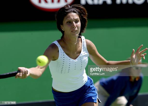 Anastasia Myskina fought back after loosing the second set to defeat Maria Sharapova 64 16 62 in their third round match at the Austalian Open...