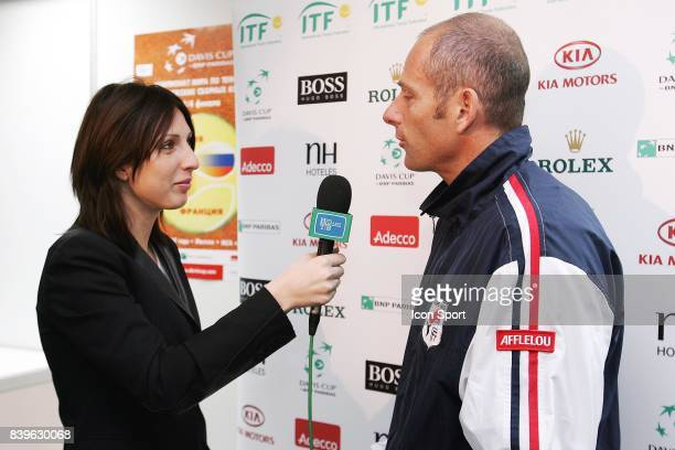 Anastasia MYSKINA / Guy FORGET Tirage au sort Russie / France Coupe Davis