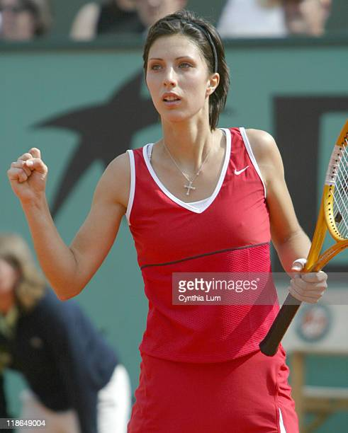 Anastasia Myskina through to final with 62 62 win over Jenifer Capriotti in their Semifinal match at the French Open June 2 2004
