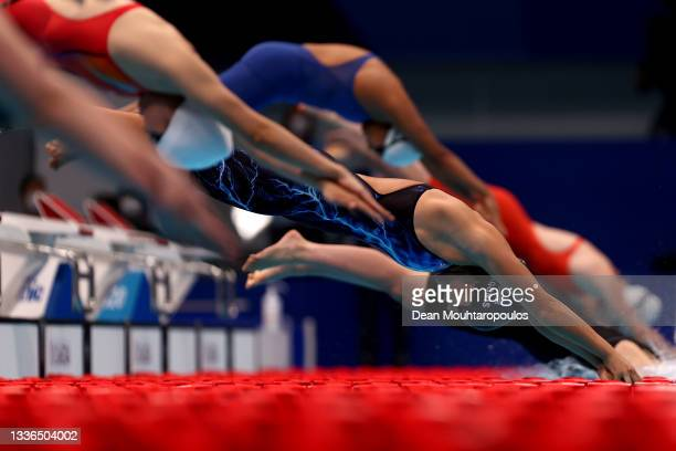Anastasia Pagonis of Team United States competes in the Women's 400m Freestyle - S11 final on day 2 of the Tokyo 2020 Paralympic Games at the Tokyo...