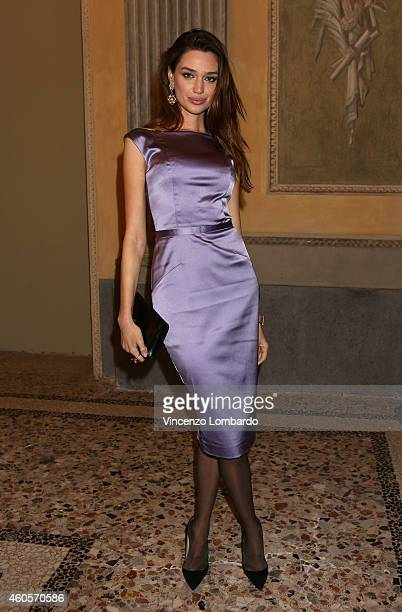 Anastasia Pavlenko attends the Fondazione IEO CCM Christmas Dinner For on December 16 2014 in Monza Italy