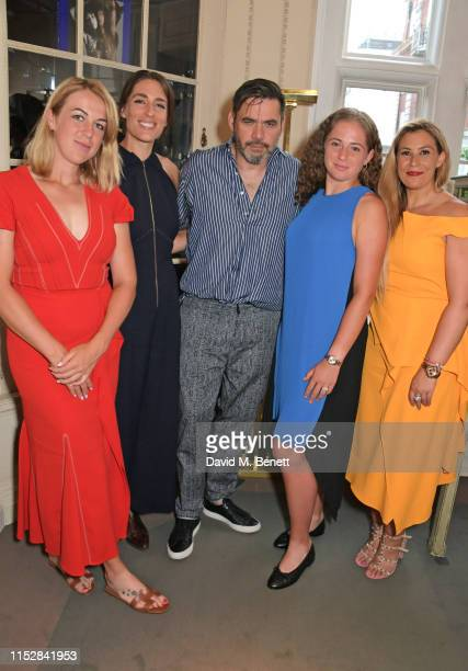 Anastasia Pavlyuchenkova Andrea Petkovic Roland Mouret Jelena Ostapenko and Marion Bartoli attend the Roland Mouret 'Women In Sport' dinner on June...