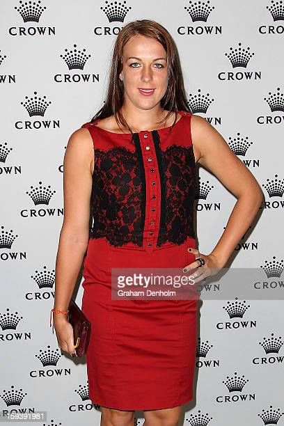 Anastasia Pavlyuchenkova arrives at Crown's IMG Tennis Player's Party at Crown Towers on January 13 2013 in Melbourne Australia