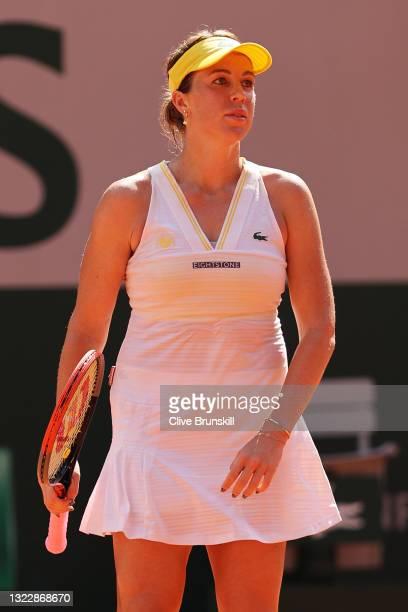 Anastasia Pavlyuchenkova of Russia celebrates match point in her Semi-Final Women's Singles match against Tamara Zidansek of Slovenia during Day...