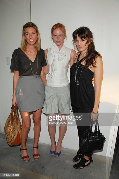 Anastasia Rogers Nell Rebowe and Jessie Cohan attend ALTOIDS AWARD exhibition of the first recipients at The New Museum NYC on June 24 2008 in New...
