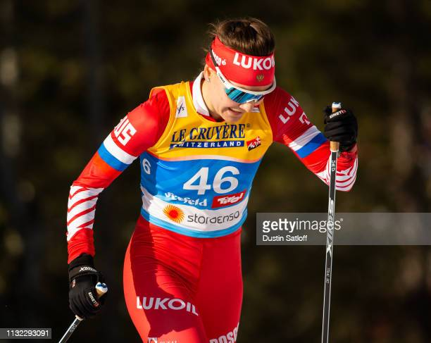 Anastasia Sedova of Russia competes in the Women's 10km Cross Country during the FIS Nordic World Ski Championships on February 26 2019 in Seefeld...