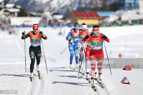 Anastasia Sedova of Russia during the Women's Cross Country 4x5km Relay at the FIS Nordic World Ski Championships on February 28 2019 in Seefeld...