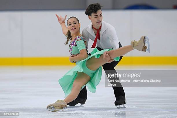 Anastasia Shpilevaya and Grigory Smirnov of Russia compete in the junior ice dance free dance free program during the ISU Junior Grand Prix of Figure...