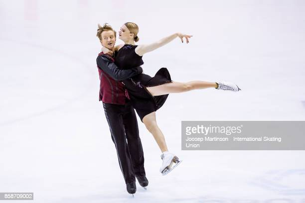 Anastasia Skoptcova and Kirill Aleshin of Russia compete in the Ice Dance Free Dance during day three of the ISU Junior Grand Prix of Figure Skating...