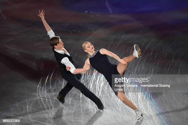 Anastasia Skoptcova and Kirill Aleshin of Russia perform their routine in the Gala exhibition during the ISU Junior Senior Grand Prix of Figure...