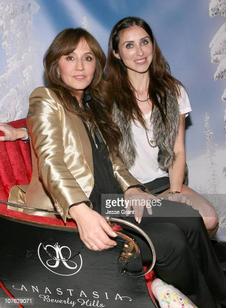 Anastasia Soare and Claudia Soare attend the Beauty of Giving to Benefit The Anastasia Brighter Horizon Foundation event held at Trousdale on...