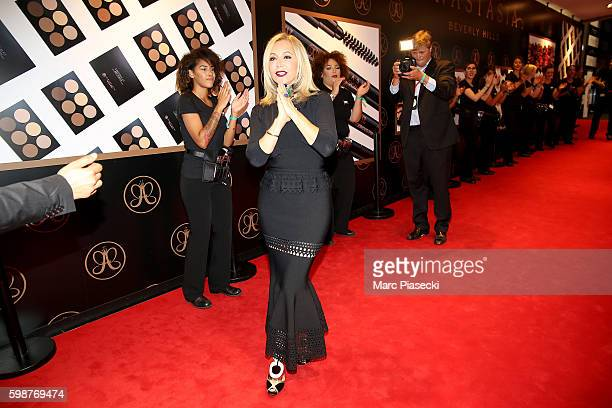 Anastasia Soare arrives to the Anastasia Beverly Hills Launches Beauty Line Exclusively at Sephora ChampsElysees on September 2 2016 in Paris France