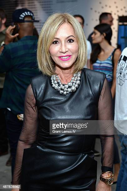 Anastasia Soare attends during the opening of Blaine Halvorson installation 'Walk Don't Run' at NYFW The Shows NYFW The Shows HQ at Headquarters on...