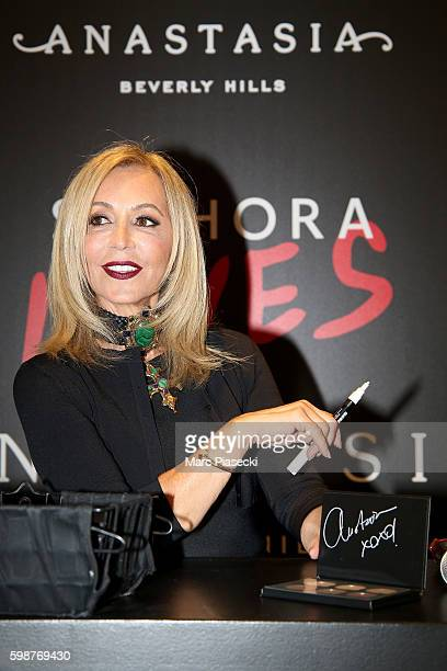 Anastasia Soare attends the Anastasia Beverly Hills Launches Beauty Line Exclusively at Sephora ChampsElysees on September 2 2016 in Paris France