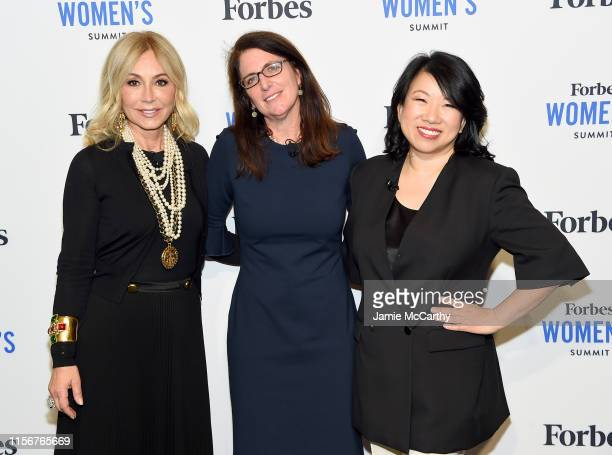 Anastasia Soare, Luisa Kroll and Shan-Lyn Ma attend the 2019 Forbes Women's Summit at Pier 60 on June 18, 2019 in New York City.