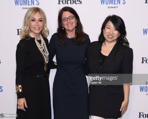 Anastasia Soare, Melissa Bell, and Shan-Lyn Ma attend the 2019 Forbes Women's Summit at Pier 60 on June 18, 2019 in New York City.