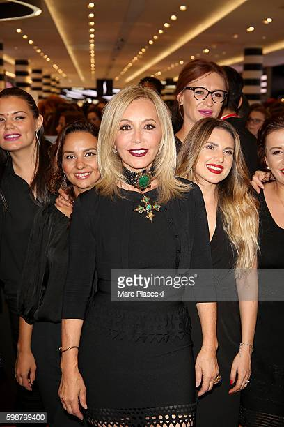 Anastasia Soare poses with her team during the Anastasia Beverly Hills Launches Beauty Line Exclusively at Sephora ChampsElysees on September 2 2016...