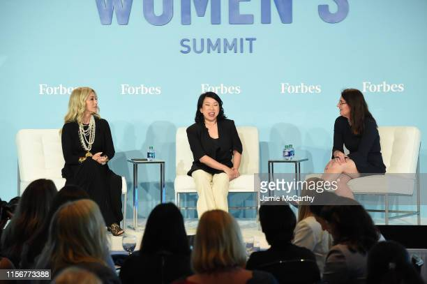 Anastasia Soare, Shan-Lyn Ma and Luisa Kroll speak onstage at the 2019 Forbes Women's Summit at Pier 60 on June 18, 2019 in New York City.