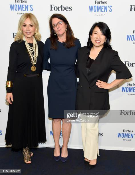 Anastasia Soarer, Luisa Kroll and Shan-Lyn Ma attend the 2019 Forbes Women's Summit at Pier 60 on June 18, 2019 in New York City.