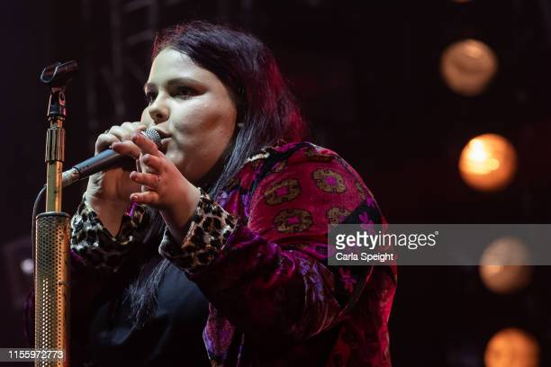 Anastasia 'Stars' Walker of Bang Bang Romeo performs on stage during Isle of Wight Festival 2019 at Seaclose Park on June 14 2019 in Newport Isle of...