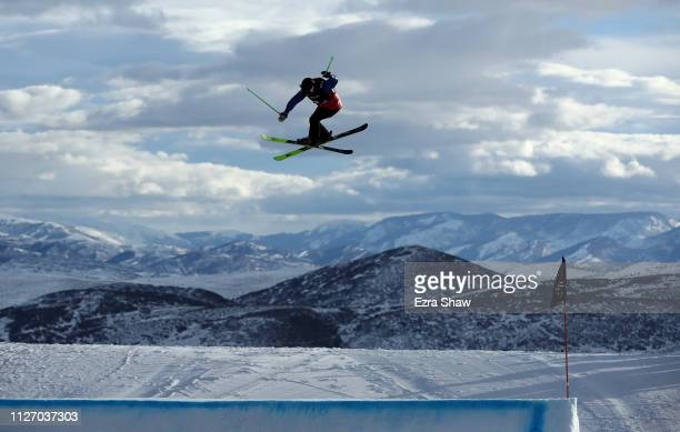 Anastasia Tatalina of Russia warms up before the start of the qualification round of the Ladies' Ski Big Air at the FIS Freeski World Championships...